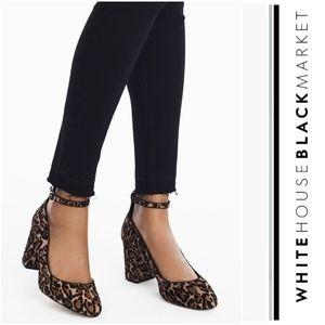 Sassy WHBM Leopard Print Haircalf Heels